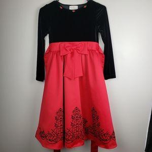 Rare Editions girls dress Sz 10 velvet & satin
